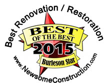 Best Rating - Construction / Renovation / Restoration / Burleson Star